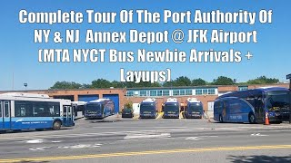 Complete Tour Of The Port Authority Of New York & New Jersey Bus Depot @ JFK Airport