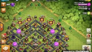 Clash of clans#1 yavru Ejder 46 Madenci ve bir klon büyüsü