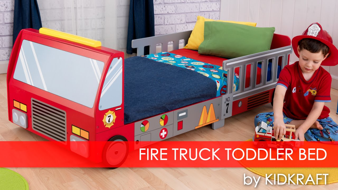 Boy's Fire Truck Toddler Bed - Furniture Review - YouTube