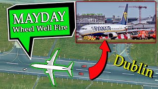 Ryanair B738 has WHEEL WELL FIRE INDICATION after landing at Dublin
