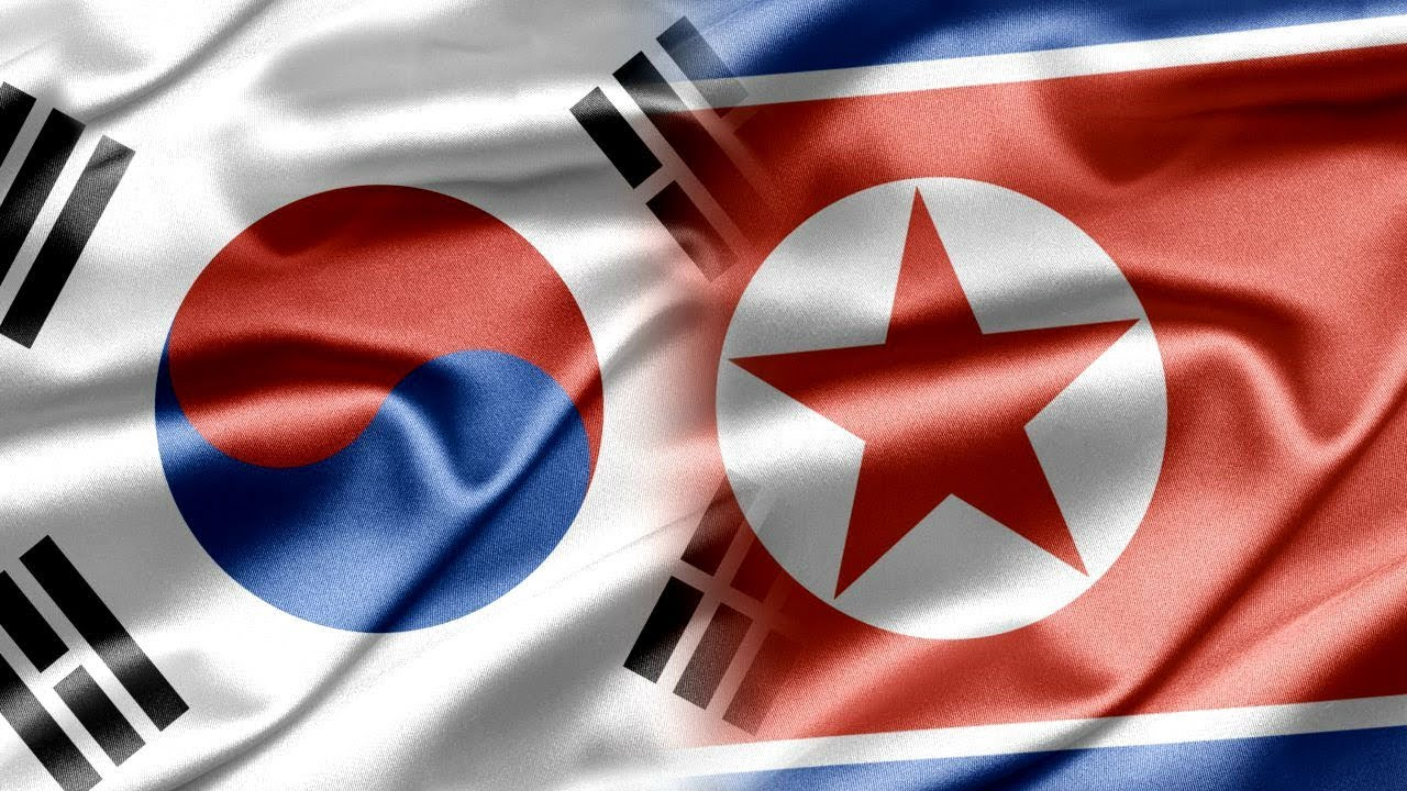 Image result for north and south korea flag