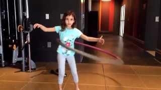 Как  научиться крутить обруч  или How to hula hoop for beginners  от littleZlata