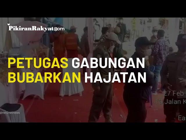 Viral, Rekaman Video saat Petugas Gabungan Bubarkan Acara Hajatan di Pulo Gadung, Jakarta Timur