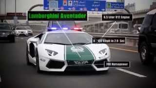 Dubai Police with Lambo, Ferrari, Camaro   fastest cop cars in the world!