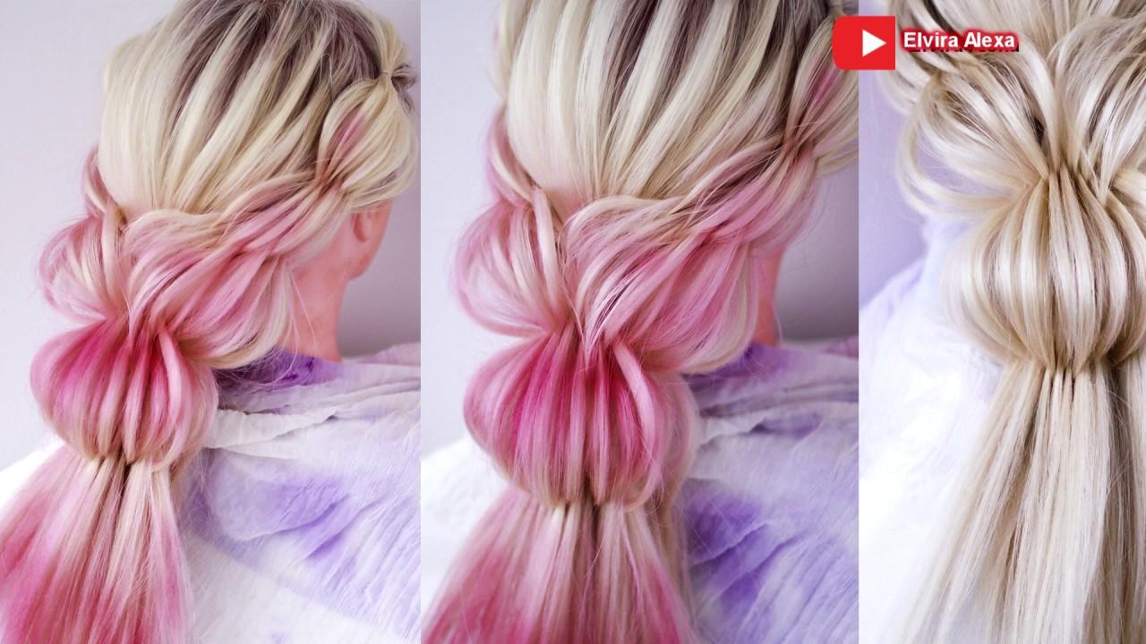 Воздушная причёска из 3D косы Причёска на выпускной, на 8 марта Hair tutorial