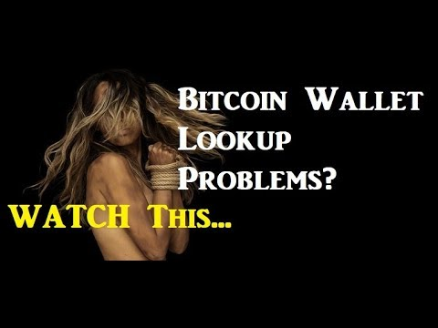 Bitcoin Wallet Lookup Problems?  Take A look At This Monster...