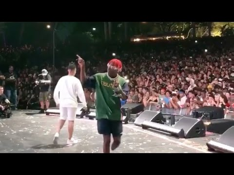 """Lil Yachty reacts to the crowd chanting F Joe Budden: """"Let that old man live!"""""""