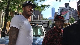 50 Cent -- Bodyguarding for Carmelo ... Terrifies TMZ Photog | TMZ Sports