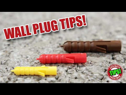 Some Simple DIY Tips for Wall Plugs / Anchors!