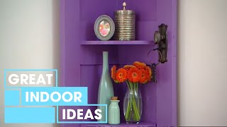 How To Create Corner Door Shelving