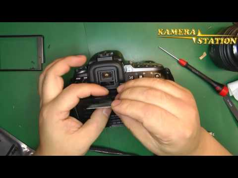 1B61-M Sony DSLR-A550 A580 Display Reparartur / Repair Guides Kamera-Station.de