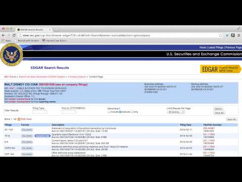 Finding and Understanding SEC Documents