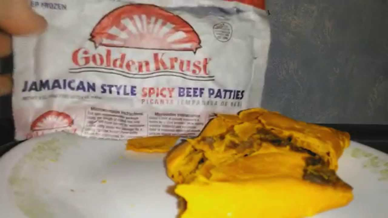 let's try golden krust jamaican beef patty  youtube