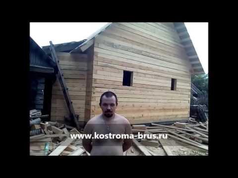 """Строительство дома из бруса под усадку — СК """"Кострома-брус"""""""