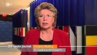 ZDF Heute Journal @VivianeRedingEU Interview: Verhältnis zu den USA steht zur Debatte - 18.11.2013