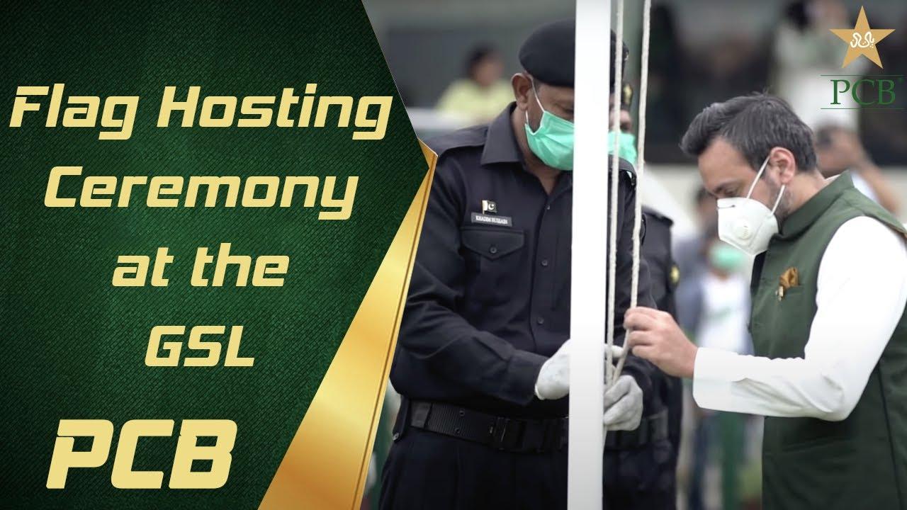 Flag hoisting Ceremony at the GSL 🇵🇰 | PCB