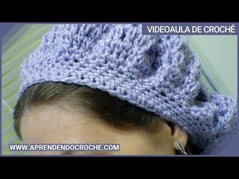 Boina Dafne em Crochê - YouTube 4461d61f0ec