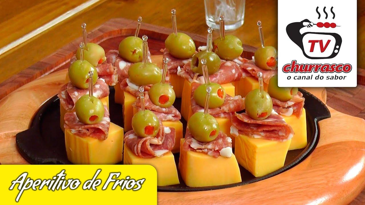 Receita de aperitivo de frios tvchurrasco youtube for Canapes simples e barato