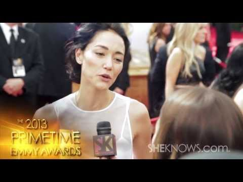 2013 Primetime Emmys with House of Cards' Sandrine Holt  SheKnows Goes to the s