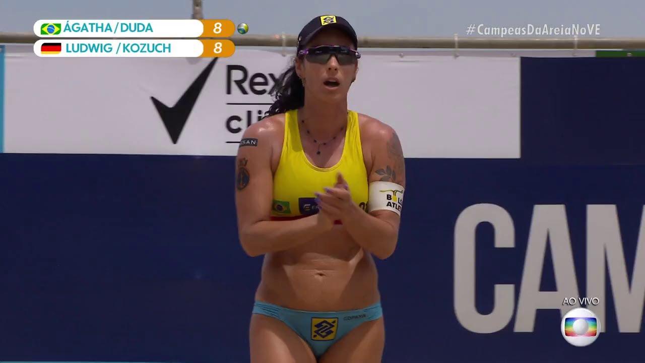 Highlights of Ludwig/Kozuch vs. Agatha/Duda beach volleyball at ...