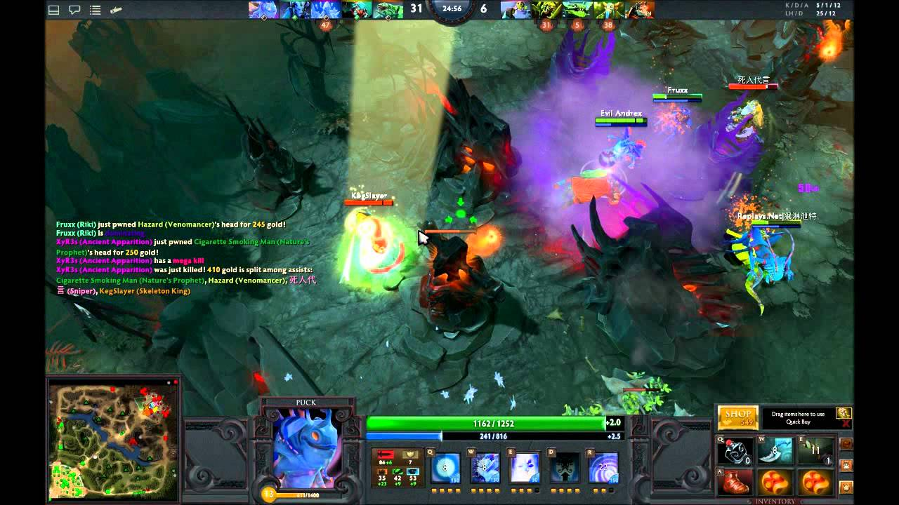 dota 2 gameplay puck youtube
