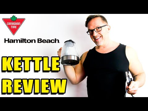 Canadian Tire Hamilton Beach Glass Electric Kettle Review