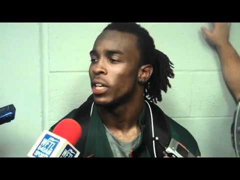 UM safety Ray Ray Armstrong after FAMU game 9-2-10