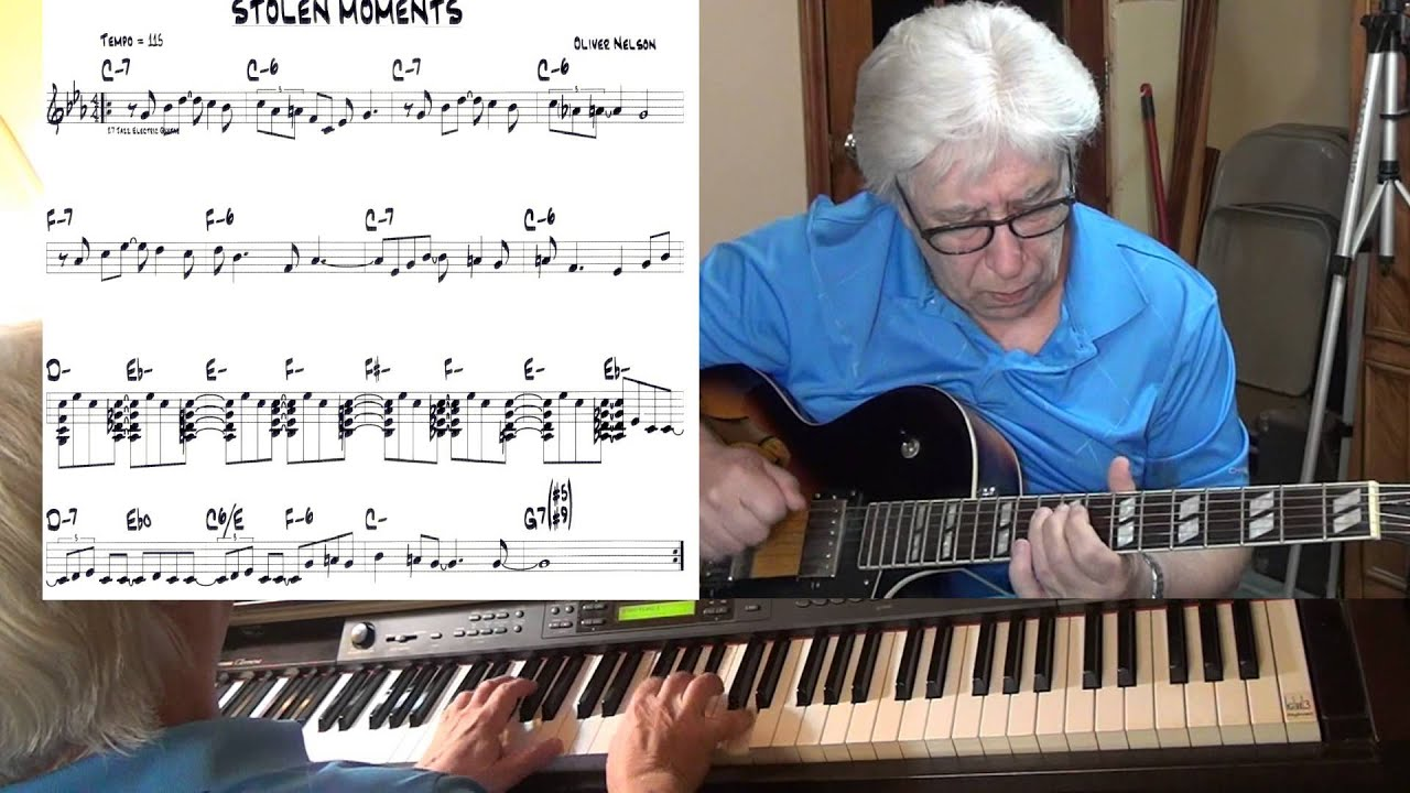 Stolen Moments Jazz Guitar Piano Cover Oliver Nelson Yvan