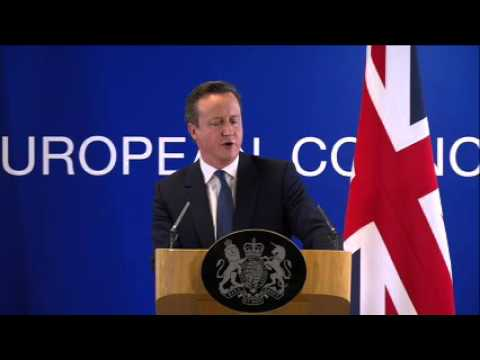 Watch Press briefing by David CAMERON, British Prime Minister