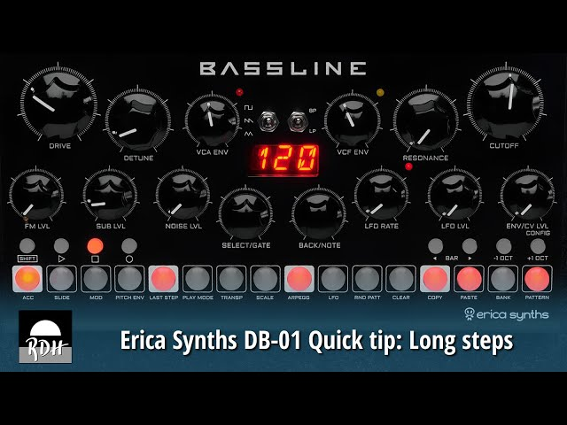 Erica Synths DB-01 quick tip: Long steps