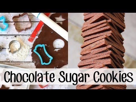 How to Make CHOCOLATE SUGAR COOKIES!!!