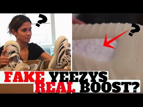 Do FAKE YEEZYS Use REAL BOOST?? (She Did A LEGIT CHECK In 30 Seconds!)