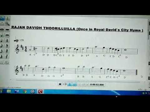 ராஜன் தாவீதூரிலுள்ள Hymn ( Once in Royal David's City) Compiled by Ramesh Kumar Choir Master