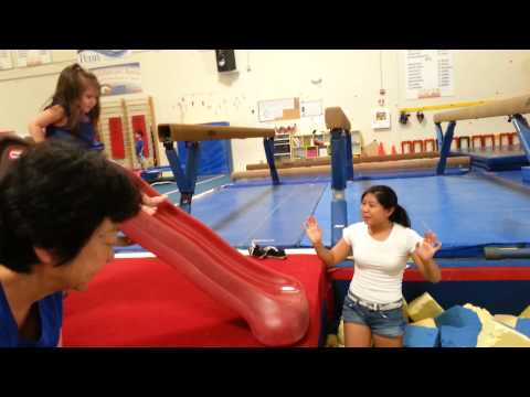 Pacific West Gymnastics - Foam Pit Slide