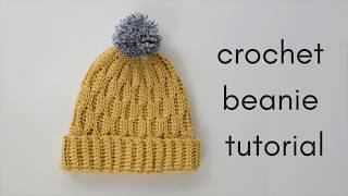 Crochet Beanie Tutorial - how to make a crochet hat