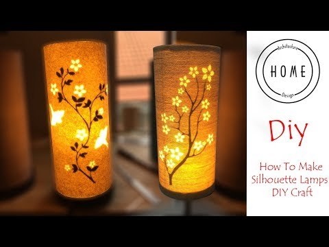 How to make silhouette lampshade