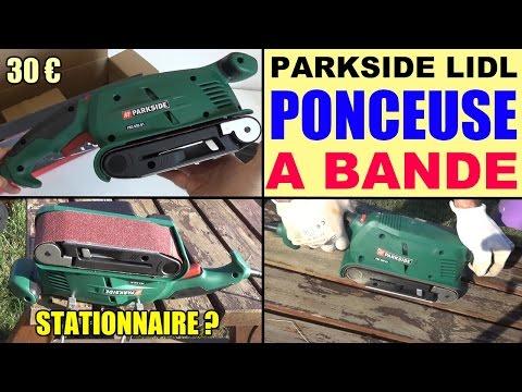 Ponceuse bande parkside 600w lidl pbs 600 belt sander for Levigatrice a nastro parkside