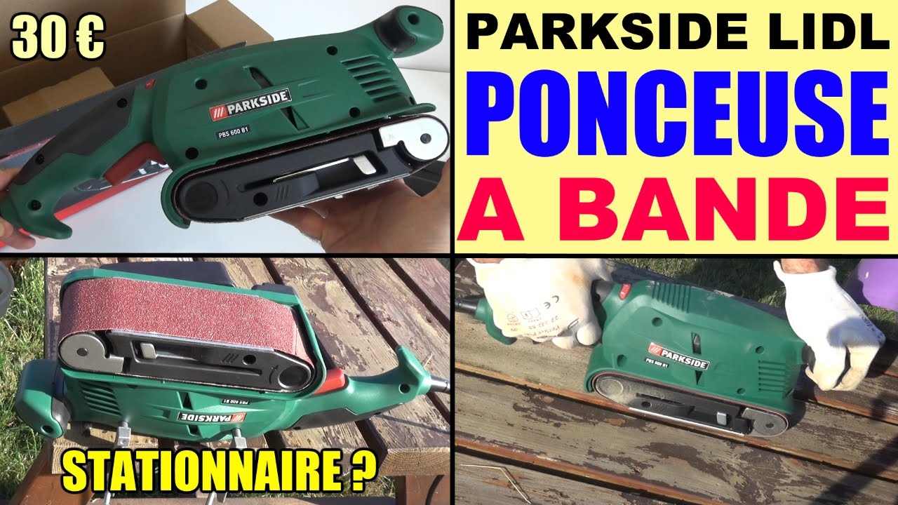 ponceuse bande parkside 600w lidl pbs 600 belt sander bandschleifer youtube. Black Bedroom Furniture Sets. Home Design Ideas