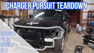 Tear Down Of Our Wrecked Undercover Police Car | 2015 Dodge Charger Pursuit Project Ep.2