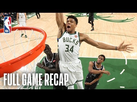 PISTONS vs BUCKS | Giannis Takes Flight in Playoff Opener | Game 1
