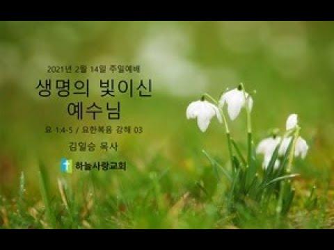 요한복음 강해 03 1.4-5 생명의 빛이신 예수님