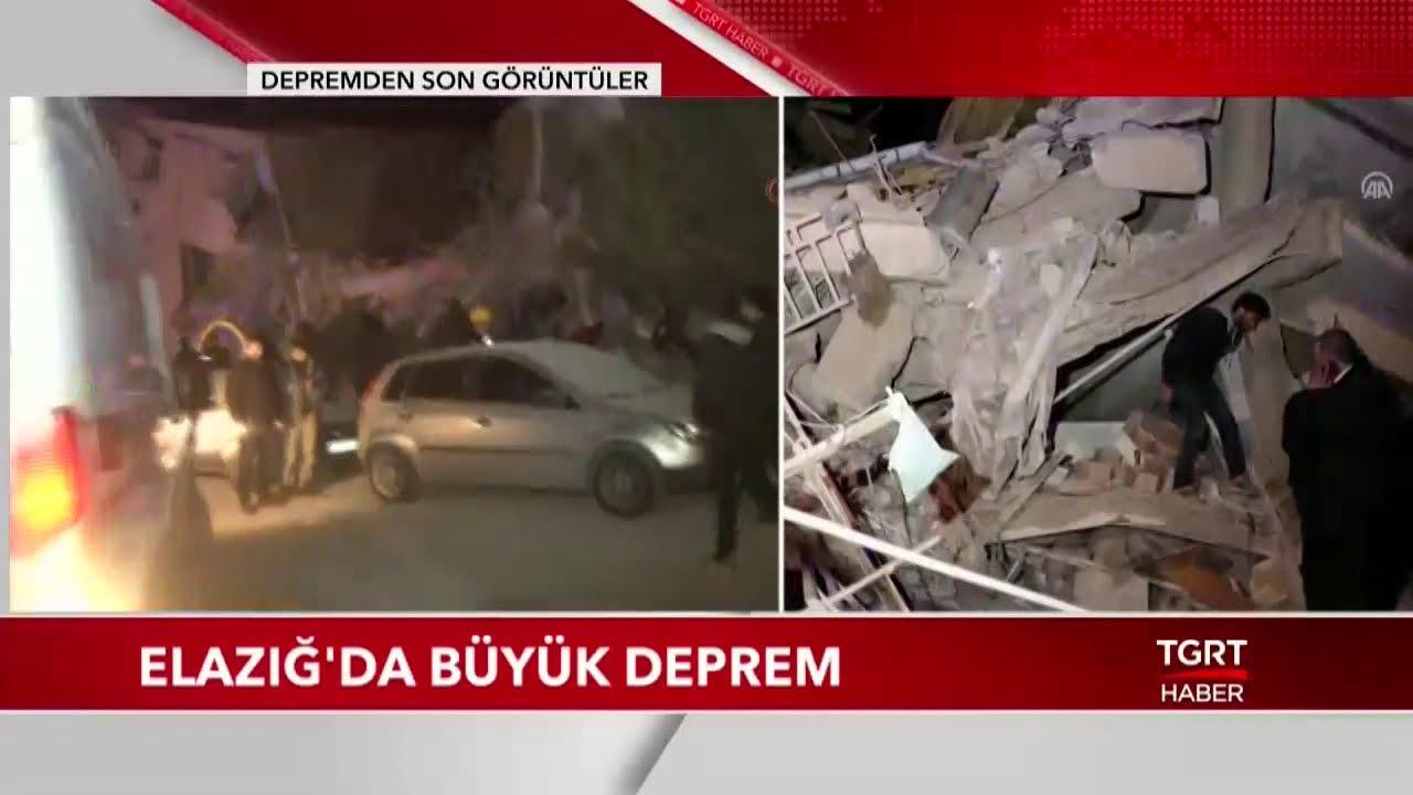 Elazığ Sivrice'de Büyük Deprem - Deprem Bölgesinde İlk Görüntüler