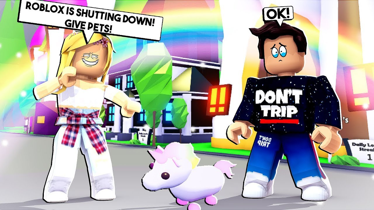Jeremy Youtube Roblox Gold Digger Says Roblox Is Shutting Down And Needs All Of My Neon Pets In Adopt Me Youtube