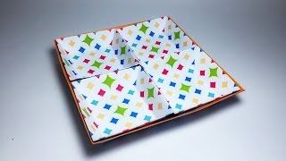 Square Geometric Tray Paper Crafts tutorial !