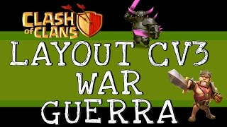 Clash of Clans | Layout CV 3 Push / Guerra / Troféu | TH3 [INCRÍVEL]