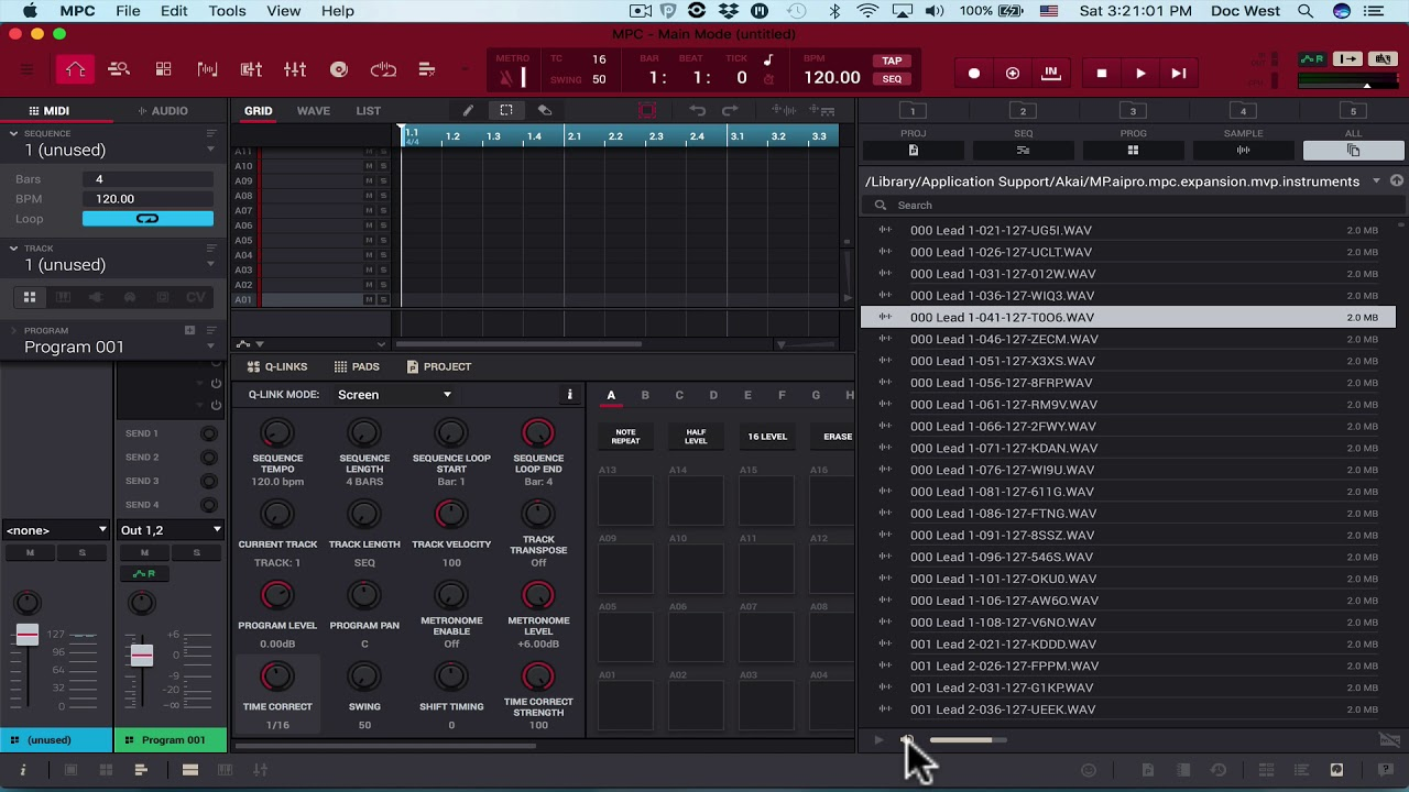 AKAI MPC Live, MPC X, MPC Touch, 2 2 Software Lessons Part 1