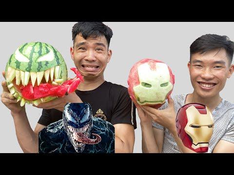 Tạo Hình Dưa Hấu   Người Làm Giống Vật Mẫu Nhận 1000$   How To Make Watermelon   PHD Troll