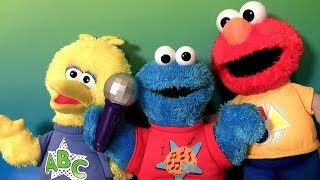 DJ Cookie Monster & Big Bird Singing ABCs Alphabet Song Nursery Rhymes Elmo Rockin Shapes Colors