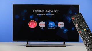 Erstinstallation eines Panasonic TV-Gerätes