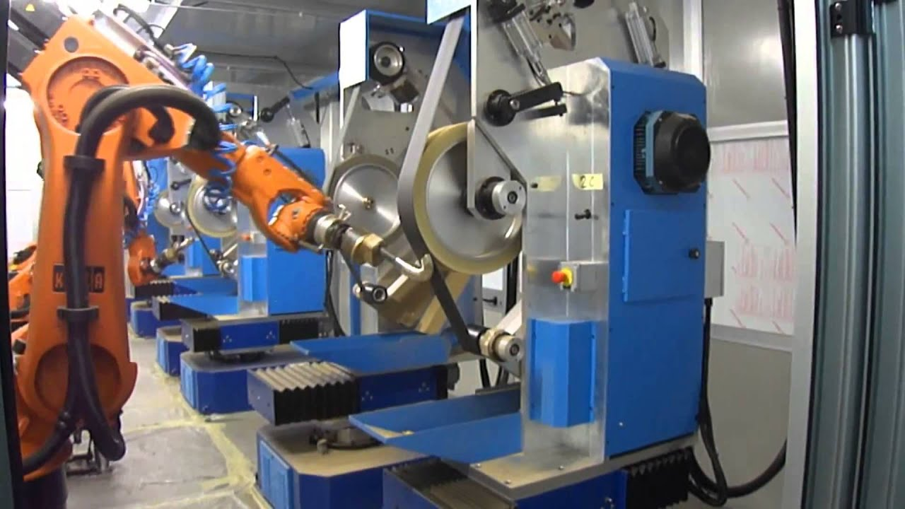 Robotic Cell Robot For Grinding Of Faucets Robot